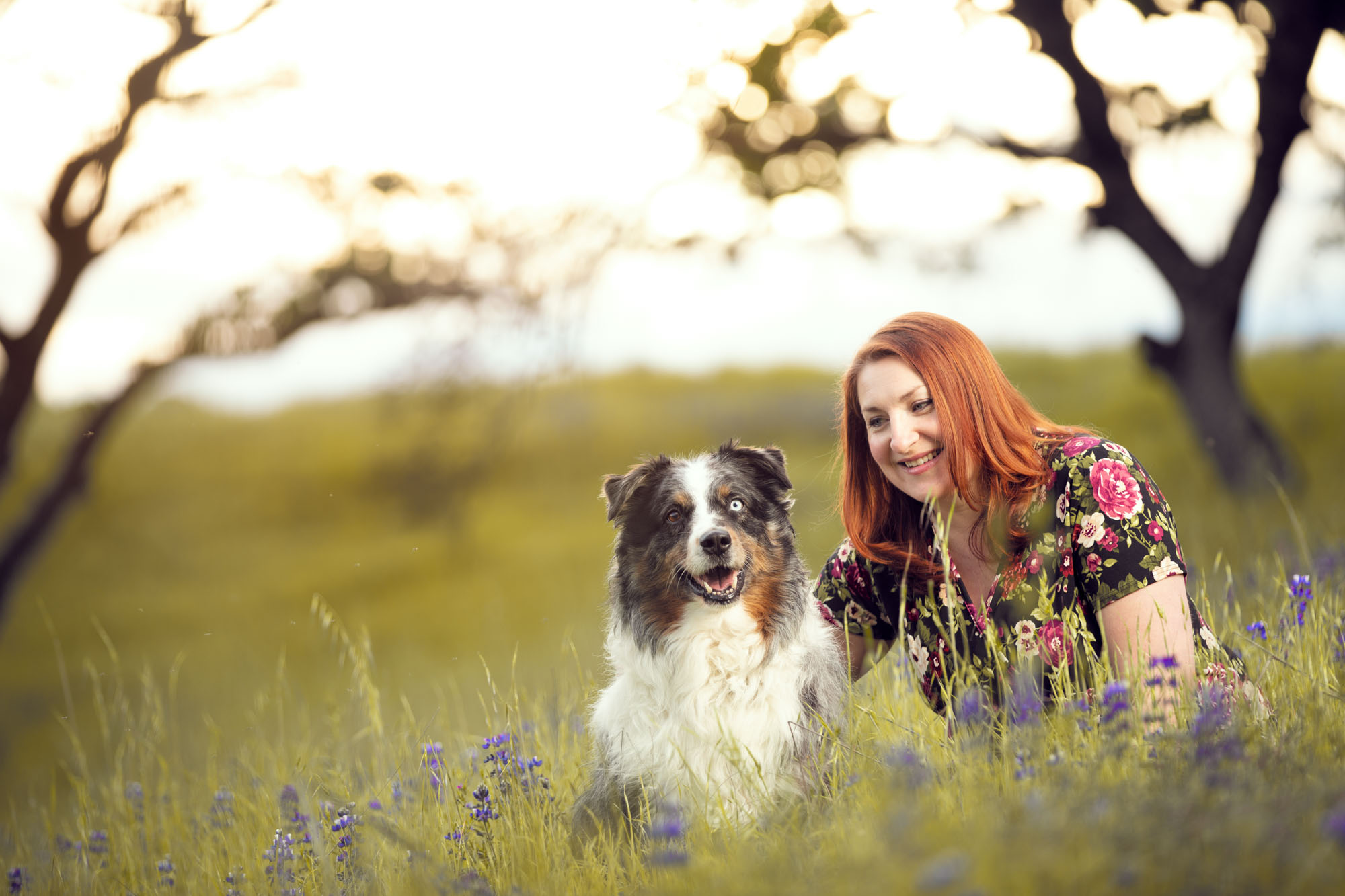 Outdoor portrait photo shoot of a woman and her dog by Jason Guy