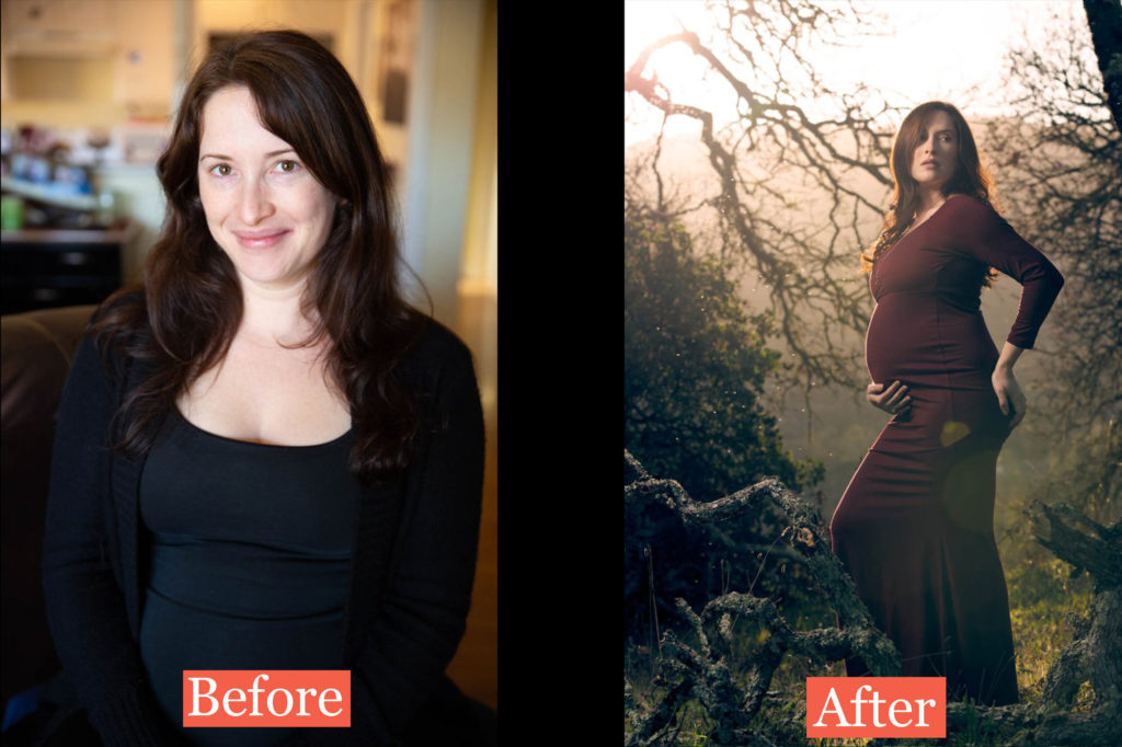 Maternity photography bay area before and after