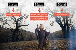 luster vs matte vs metal print comparison