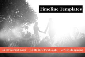 wedding day timeline templates